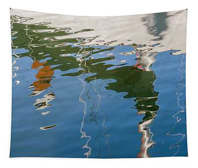 Sailboat Reflection Tapestry