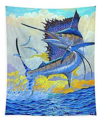 Sailfish Sunset Off00160 Tapestry
