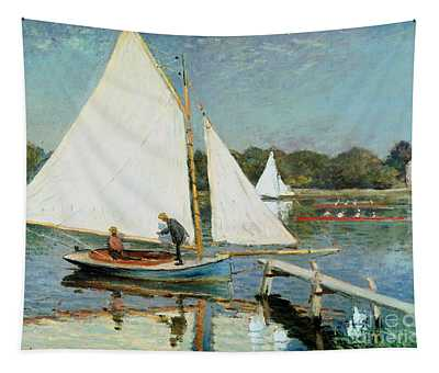 Sailing At Argenteuil Tapestry