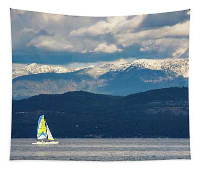 Sailing Flathead Lake Tapestry