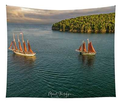 Sailing Frenchman Bay Tapestry