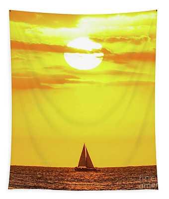 Sailing In Hawaiian Sunshine Tapestry