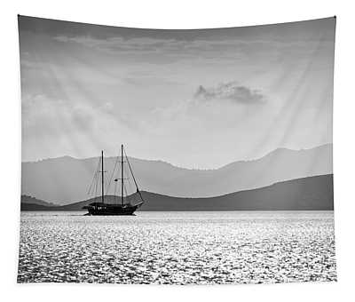 Sailing In The Sunset Tapestry