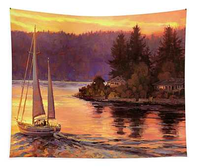 Sailing On The Sound Tapestry