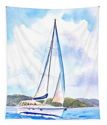 Sailing The Islands 2 Tapestry