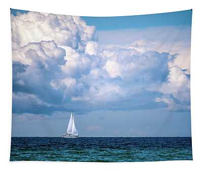 Sailing Under The Clouds Tapestry