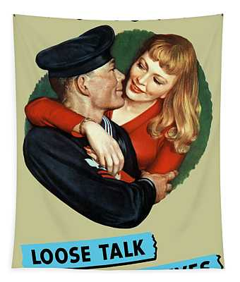 Sailor Beware - Loose Talk Can Cost Lives Tapestry