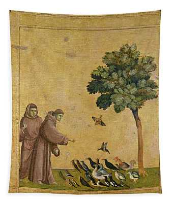 Saint Francis Of Assisi Preaching To The Birds Tapestry