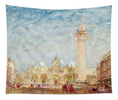 Saint Mark's Square In Venice Tapestry