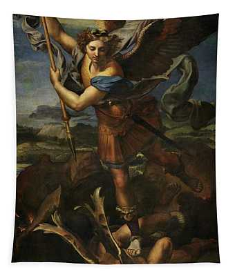 Saint Michael Defeats Satan Tapestry