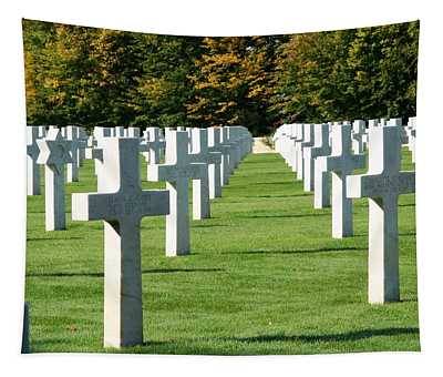 Tapestry featuring the photograph Saint Mihiel American Cemetery by Travel Pics