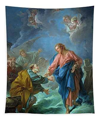Saint Peter Invited To Walk On The Water Tapestry