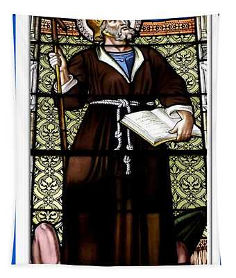 Saint William Of Aquitaine Stained Glass Window Tapestry