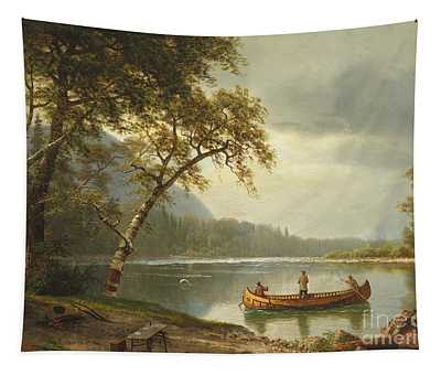 Salmon Fishing On The Caspapediac River Tapestry