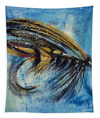 Salmon Fly King Tapestry