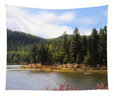 Salmon Lake Montana Tapestry