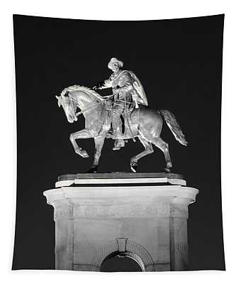 Sam Houston - Black And White Tapestry