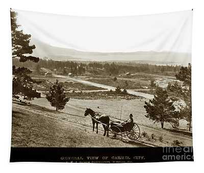 Samuel J. Duckworth Pauses To Look Upon What Would Become Carmel 1890 Tapestry