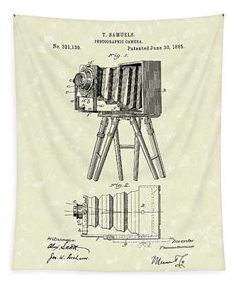Samuels Photographic Camera 1885 Patent Art Tapestry