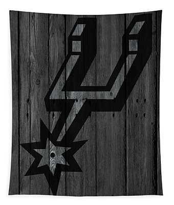 San Antonio Spurs Wood Fence Tapestry