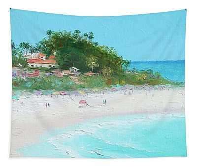 San Clemente Beach Panorama Tapestry