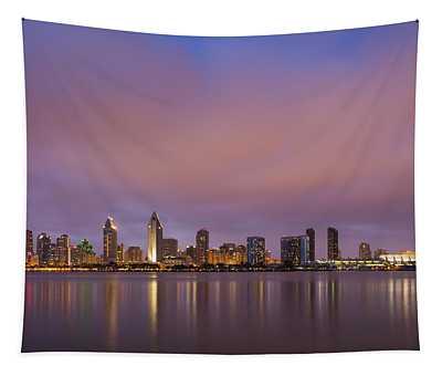 San Diego Skyline Tapestry
