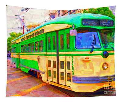 San Francisco F-line Trolley Tapestry