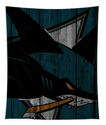 San Jose Sharks Wood Fence Tapestry