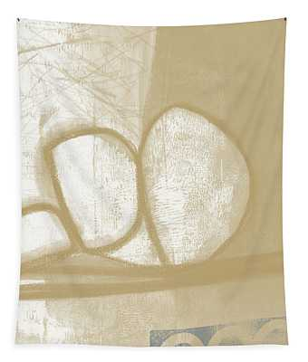 Sand And Stone 1- Contemporary Abstract Art By Linda Woods Tapestry