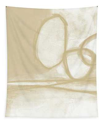 Sand And Stone 6- Contemporary Abstract Art By Linda Woods Tapestry
