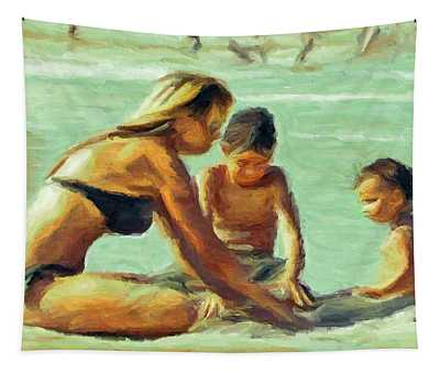 Sand Play Tapestry