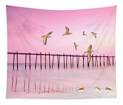 Sandpiper Sunset Tapestry
