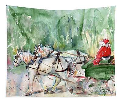 Santa Claus Is Coming To Town Tapestry