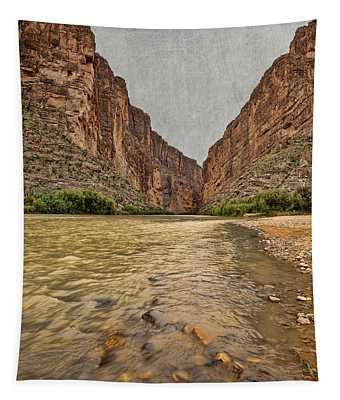 Santa Elena Canyon With Texture Tapestry