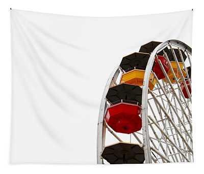 Santa Monica Pier Ferris Wheel- By Linda Woods Tapestry