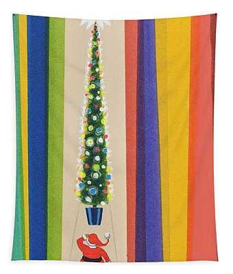 Santa's Christmas Tree Tapestry