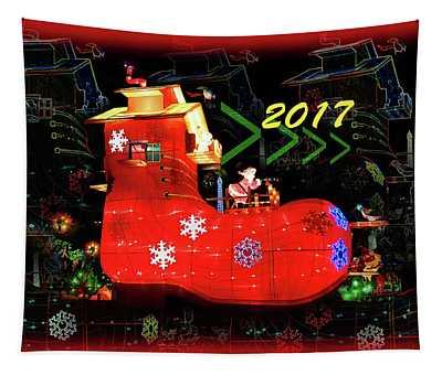 Santa's Magic Stocking Tapestry