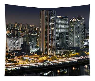 Sao Paulo Iconic Skyline - Cable-stayed Bridge  Tapestry