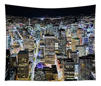 Seattle Lights Tapestry