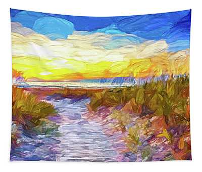 Sauble Beach - Dune Path - Paint Tapestry