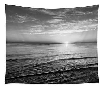 Sauble Beach Sunset 4 Bw Tapestry