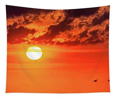 Sauble Beach Sunset - Pairing Up 2 Tapestry