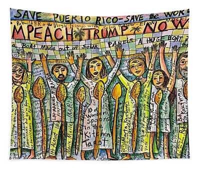 Save Puerto Rico Tapestry