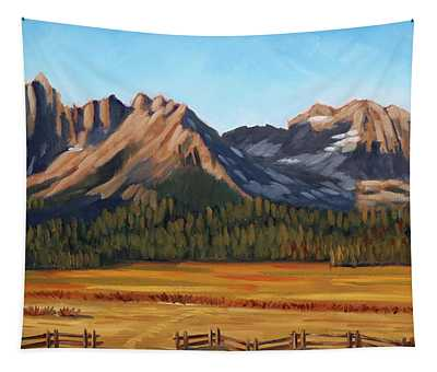 Sawtooth Mountains - Iron Creek Tapestry