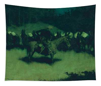 Scare In A Pack Train Tapestry