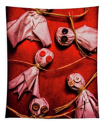 Scary Halloween Lollipop Ghosts Tapestry