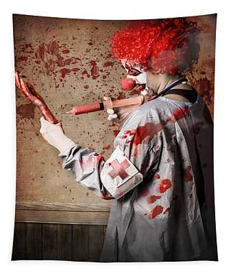 Scary Medical Clown Injecting Horror Into Limb Tapestry
