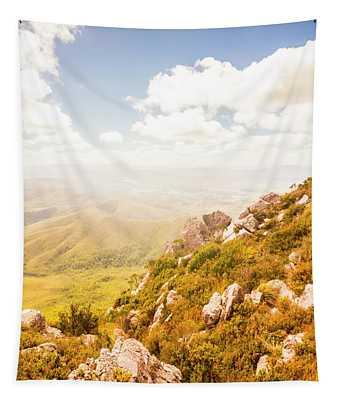 Scenic Mountain Peak Tapestry