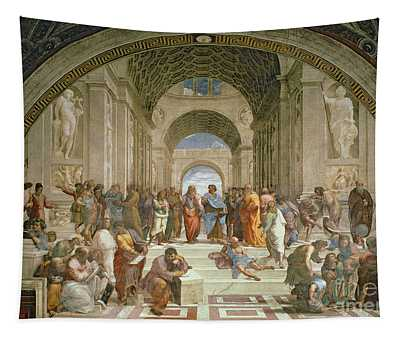 School Of Athens From The Stanza Della Segnatura Tapestry