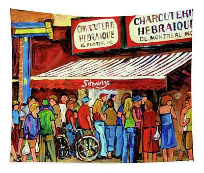Schwartzs Deli Lineup Tapestry